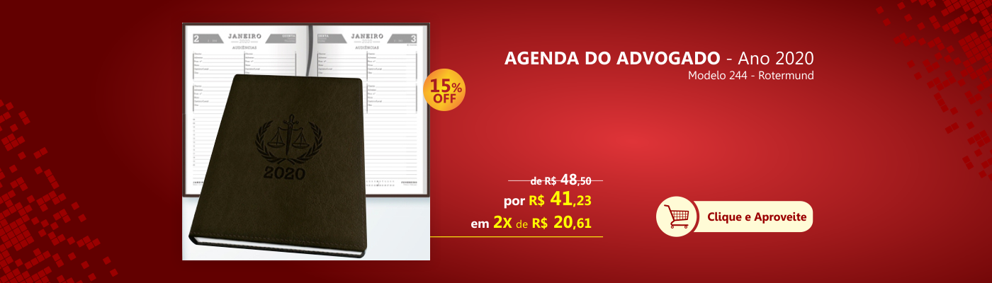 Agenda do advogado ano 2020